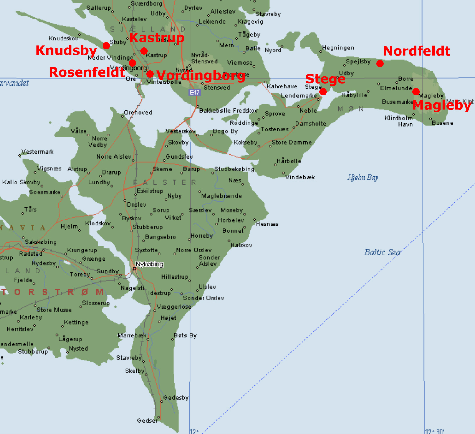 Kort Over Sydsjaelland